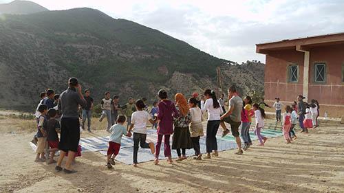 activités en plein air lors du projet Nawak Production