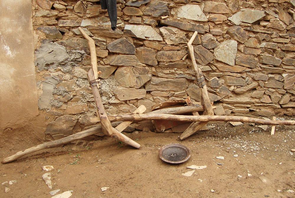 Attelage en bois lors des rencontres berbères