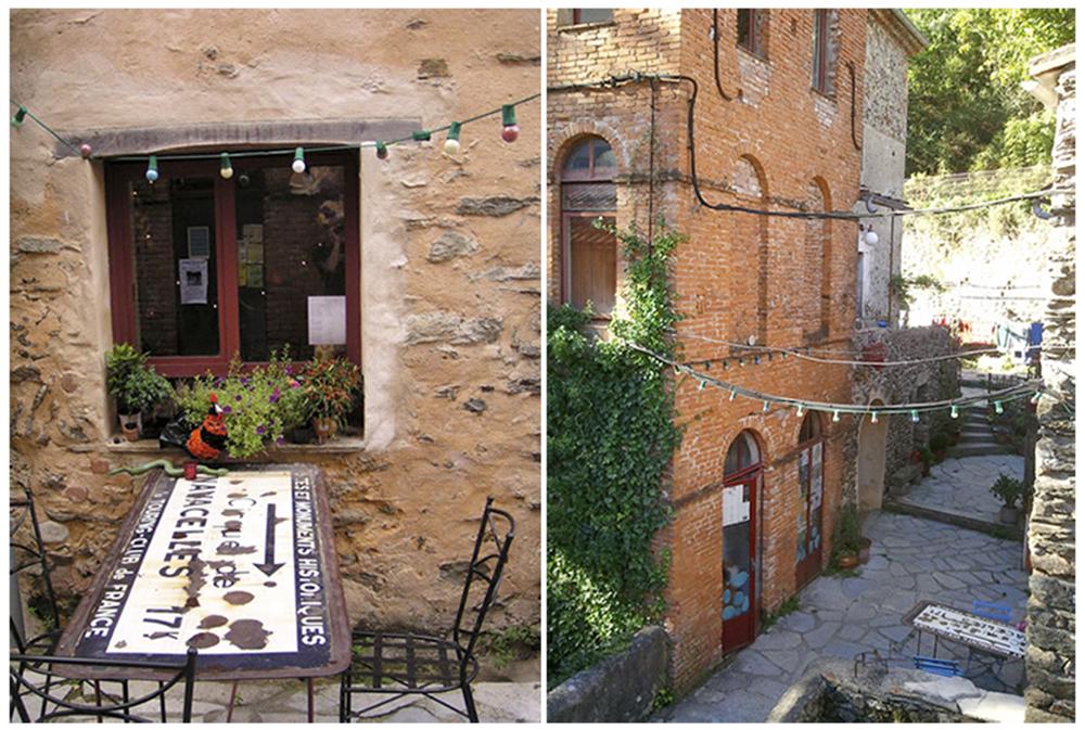 Ruelles de village lors de flânerie gourmande en Cévennes pour déficients visuels