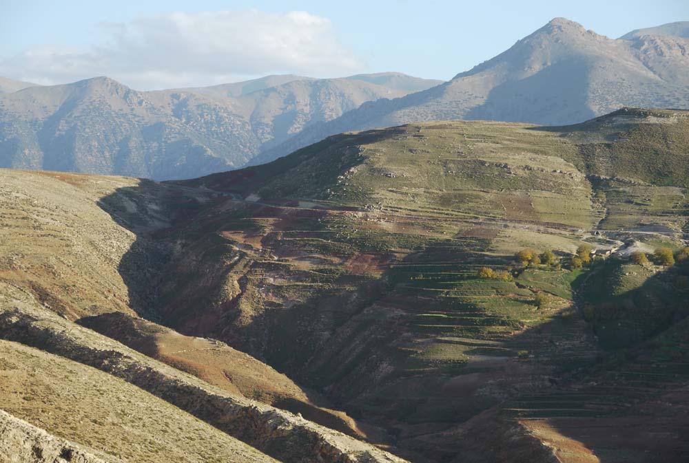 Montagnes marocaines lors du voyages Villes Impériales Marocaines