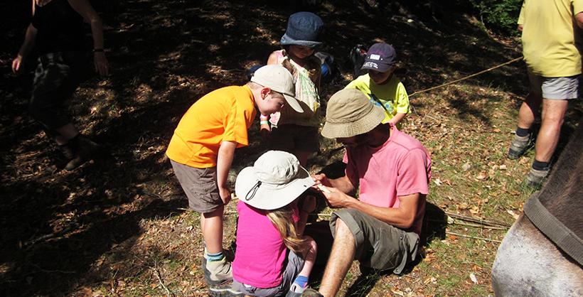 groupe d'enfants autour d'un animateur lors d'un séjour jeunesse azimut Voyage