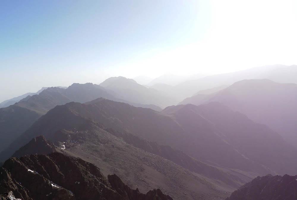 Vue du sommet, 4000 mètres,7h30