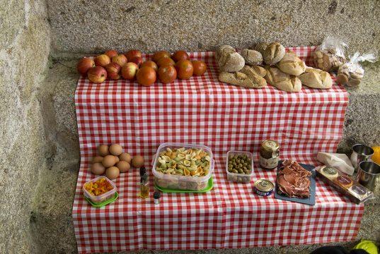 PIque nique version portugaise avec de bons produits du terroir à découvrir
